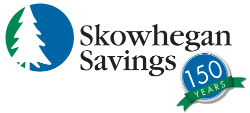 Skowhegan Savings 150th logo
